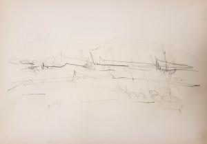 iris-bondora-dvornik-2008-rab-olovka-na-papiru-30x42-cm